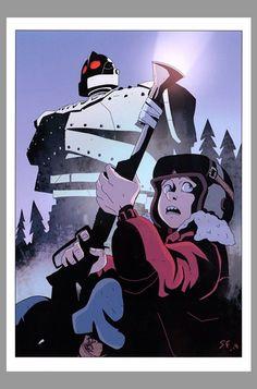 Stephan Franck Signed Iron Giant & Hogarth Movie Art Print LE #25/100 Limited