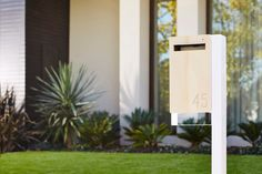 A modern House deserve a modern designer letterbox. The Australian Design Studio Javi design Lee Rodezno has reconsidered the place of letter boxes in the House Mailboxes For Sale, Custom Mailboxes, Design Studio, Box Design, Contemporary Mailboxes, Modern Mailbox, Black Mailbox, Mounted Mailbox, House And Home Magazine