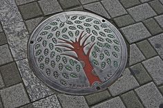Fuchinobe Manhole Cover red trunk 淵野辺 東京