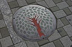 Fuchinobe Manhole Cover red trunk 淵野辺 東京