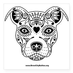 Sugar Skull Pit Bull Coloring Page Complicolor Sugar Skull Coloring Pages Printable With Astonishing Adult Skulls Coloring Pages With Sugar Skull Colori Pitbull Tattoo, Dog Tattoos, Cat Tattoo, Tatoos, Skull Coloring Pages, Dog Coloring Page, Adult Coloring, Sugar Skull Tattoos, Sugar Skull Art