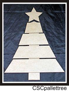 Clear Scraps - DIY Chipboard Pallet - Christmas Tree