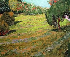 Vincent van Gogh - Meadow with willow