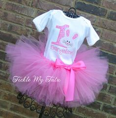 Pink Little Bunny Birthday Tutu Outfit Some BUNNY by TickleMyTutu, $54.95