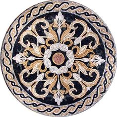 Floral Patterns Table Top Mosaic Medaillion by Mozaico on Etsy, $244.00