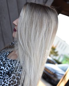 Melted root by vickysecrets1011 on Instagram #balayage #platinum #whitehair…