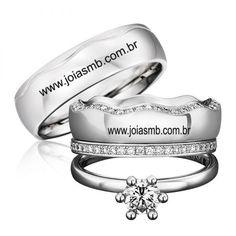 6abb716face5d Alianças de Casamento Sao Jose do Rio Pardo - 6031 Ouro Branco, Anel De  Formatura