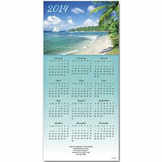 Trade Winds Z-fold Calendar | Tropical Christmas Cards | Deluxe.com