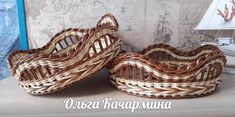 Wicker Baskets, Weaving, Decor, Wicker, Hampers, Decoration, Dekoration, Inredning, Crocheting