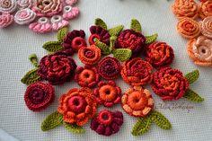 10 piezas 20 piezas 1 2 2-5 cm flores de ganchillo. por AlisaSonya