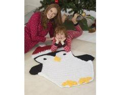 Crochet Kit -  Holiday Penguin Afghan