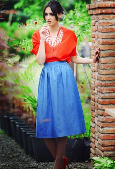 blue jens skirt. All world delivery #995nojeans #995fashion #jeansskirt #skirt #fashion #style