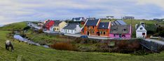 Fisher Street, Doolin. I do love all the colour! 1.5 hrs Southwest of Galway