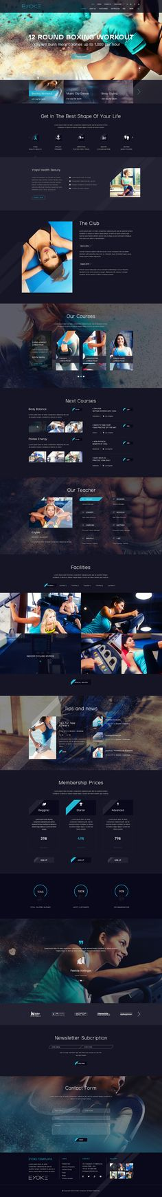 Eyoke - Fitness Onepage PSD Template - PSD Templates | ThemeForest