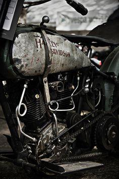 Vintage Harley Davidson. Original photograph by Felix Padrosa