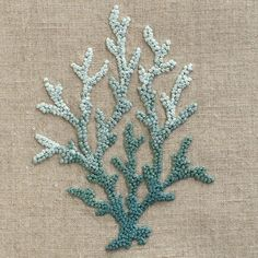Love my new Coral Knot Blue on Natural Linen : Samuel Scheuer