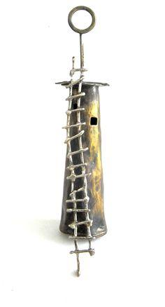 Brass Long House Necklace/Pendant ~ HiNGE Dept. Accessory