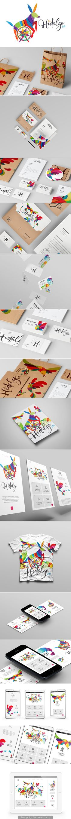 Although this design is fun and colourful, there seems to be to much going on with the different animals. I like the fact that the H and Hidalgo work as individual designs on the business cards.