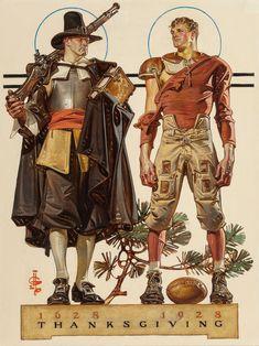 JOSEPH CHRISTIAN LEYENDECKER (American, 1874-1951). Thanksgiving, | Lot #68068 | Heritage Auctions