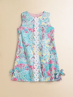 Lilly Pulitzer Kids Toddler's & Little Girl's Little Lilly Abstract Floral Dress