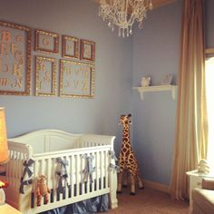 Cute #walldecor idea with #pictureframes for the #nursery!