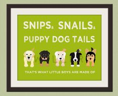 not the lime green, but maybe light blue.    Puppy dog rhyme print Dog print for boys Baby boy by Wallfry, $22.00
