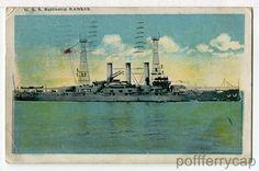 USS KANSAS (BB-21) Connecticut-Class Pre-Dreadnought Warship U.S. Navy, Postcard