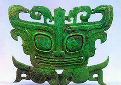 Sanxingdui bronze mask at the Sanxingdui Museum in Chengdu, China