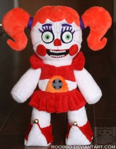 Five Nights at Freddy's: Sister Location - Circus Baby - Plush Freddy Plush, Freddy 's, Five Nights At Freddy's, Fnaf Baby, Circus Baby, Anime Fnaf, Sister Location, Minky Fabric, Christmas Crafts For Kids
