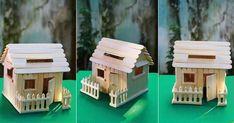 49 Inspiring Butterfly Garden Design Ideas LONGER # Draw # Bars cream from Craft Popsicle Stick Crafts House, Popsicle Sticks, Craft Stick Crafts, Diy Crafts For Kids, Home Crafts, Ice Cream Stick Craft, Idee Diy, Kids Wood, Miniature Houses