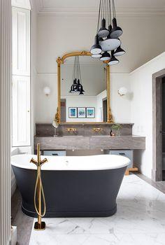 Casinha colorida: Banheiros e banheiras, um caso de amor!