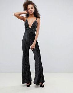 dce26cd31750 Bershka glitter jumpsuit Party Wear For Women