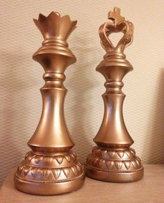 King and Queen of the house #decoration #jline #dressoir #chess #king #queen #copper