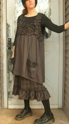 love the ruffled tunic by sarah clemens clothing.com