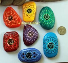 chakras piedras chakras piedras chakras piedras por KarinGetazArt