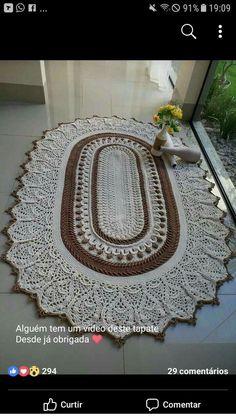 Ideas crochet mandala pillow pattern free for 2019 Crochet Rug Patterns, Crochet Mandala Pattern, Crochet Headband Pattern, Crochet Basket Pattern, Doily Rug, Crochet Doilies, Crochet Flowers, Knit Rug, Crochet Carpet
