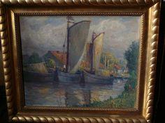 D. Staschus Künstlerkolonie Nidden Ostpreußen Litauen Schwarzort Expressionismus in Antiquitäten & Kunst, Malerei, Gemälde 1900-1949 | eBay