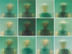 These images mark the occasion of the 1999 Venice Biennale installation, myein. the image is a reflection of the artist in the multiple layers glass that were stacked in preparation for the construction of a gridded wall across the entire facade of the United States Pavilion in Venice. Recorded at five minute intervals, the series documented the shifting weather seen through the newly uncovered pavilion skylights.