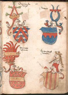 Wernigeroder (Schaffhausensches) Wappenbuch Süddeutschland, 4. Viertel 15. Jh. Cod.icon. 308 n  Folio 161r