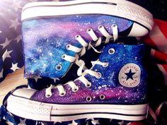galaxy converse Custom galaxy converse hand painted shoes galaxy shoes converse custom painted shoes version) on Etsy, Cool Converse, Custom Converse, Converse Sneakers, Converse All Star, Converse High, Pink Converse, Colored Converse, Converse Design, Painted Converse