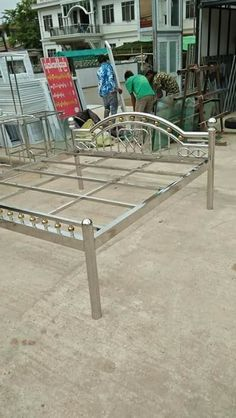 24 Ideas For Stainless Steel Furniture Design Steel Bed Design, Steel Grill Design, Steel Railing Design, Steel Stair Railing, Grill Gate Design, Balcony Railing Design, Window Grill Design, Door Gate Design, Welded Furniture