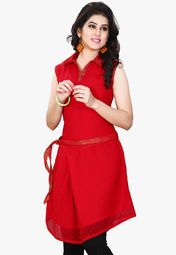 Miss And Mrs Red Printed Kurtis Online Shopping Store