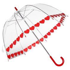 heart bubble umbrella - so cute for a rainy wedding photo op!