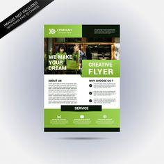 Corporation flyer template Minimal Logo Design, Business Flyer Templates, Corporate Flyer, Big Data, Page Layout, Flyer Design, Art Work, Make It Yourself, Creative