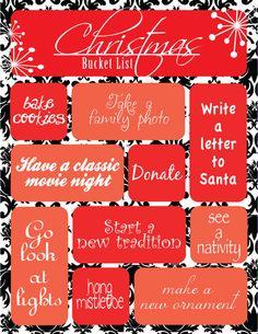 Christmas Bucket List 1