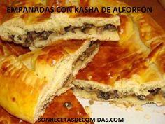 empanada con kasha de alforfón