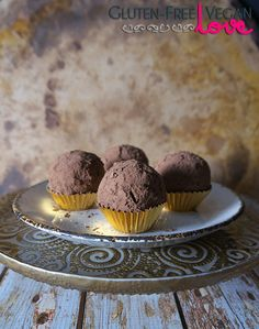 Gluten-Free Vegan Chocolate Rum Balls {also raw, paleo, and refined sugar-free}