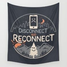Reconnect... Wall Tapestry