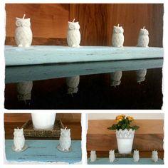 By @Özen Şener. Owl candle, DIY..