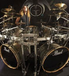 Jeff Plate & Jeff Plate has 25 cymbals in this drum kit. I love to drum but what ...